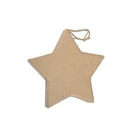 Flat Star Hanging Paper Mache