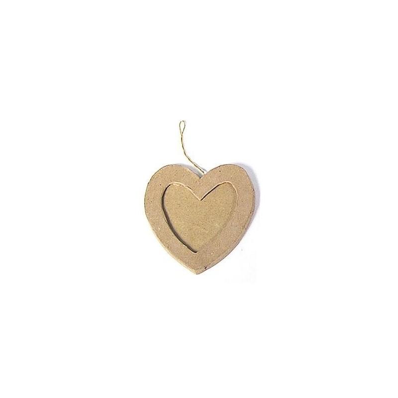 Colgante de Papel Maché - Portaretratos Corazón