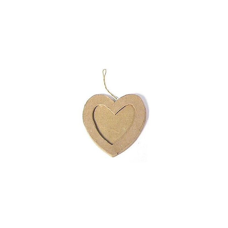 Heart Photo Frame Hanging Paper Mache