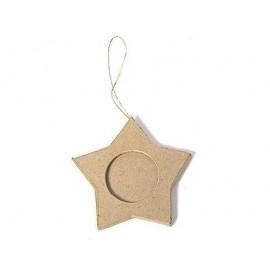 Star Photo Frame Hanging Paper Mache