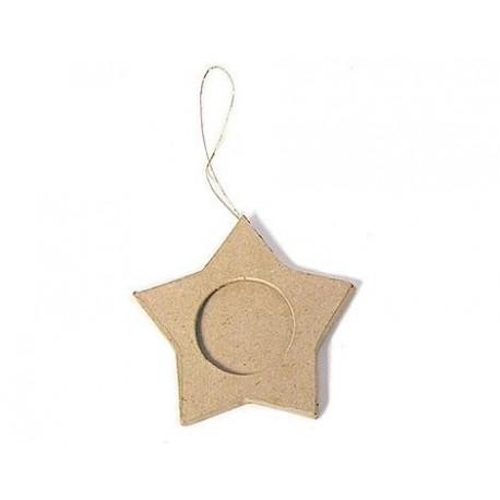 Colgante de Papel Maché - Portaretratos Estrella
