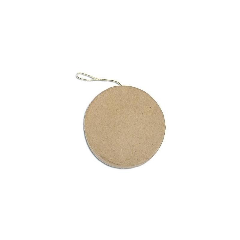Round Flat Hanging Paper Mache
