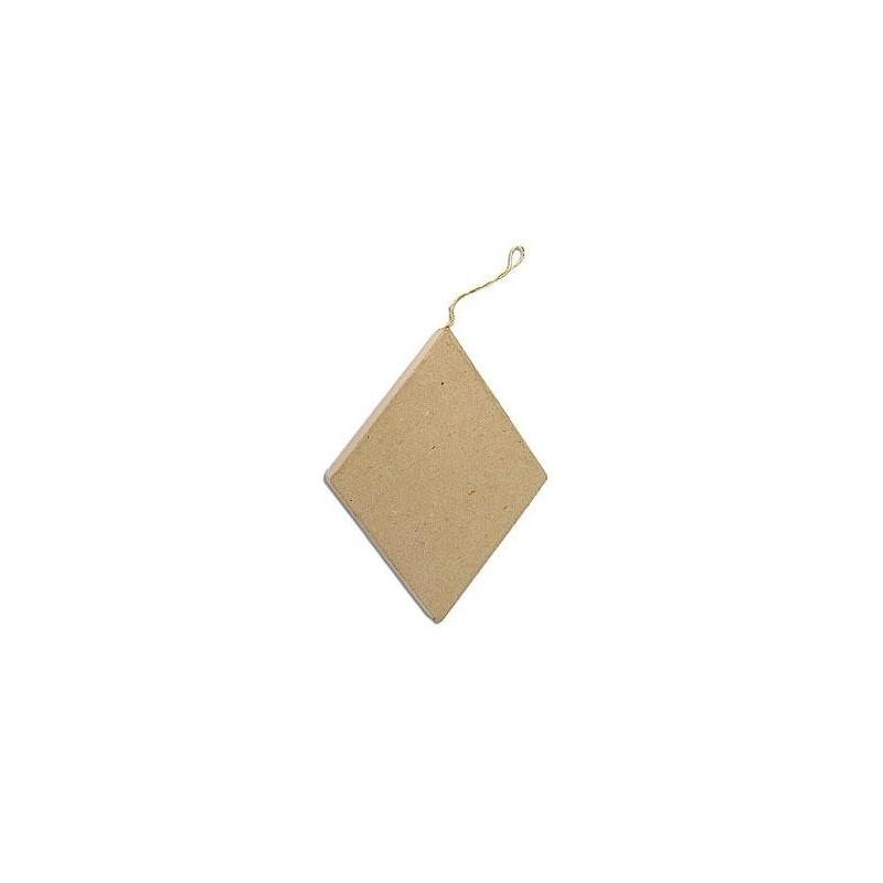 Flat Rombhus Hanging Paper Mache