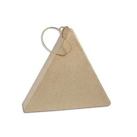 Flat Triangle Hanging Paper Mache