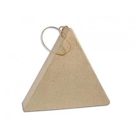 Colgante de Papel Maché - Triángulo Plano