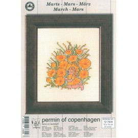 Kit Punto de Cruz - Permin Of Copenhagen - Marzo