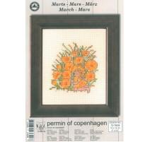Cross Stitching Kit - Permin Of Copenhagen - March