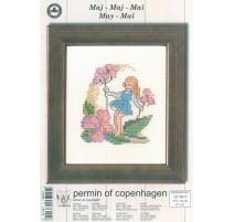 Cross Stitching Kit - Permin Of Copenhagen - May