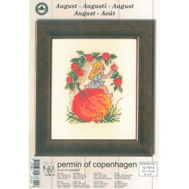 Cross Stitching Kit - Permin Of Copenhagen - August