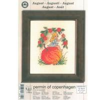 Kit Punto de Cruz - Permin Of Copenhagen - Agosto