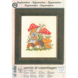 Kit Punto de Cruz - Permin Of Copenhagen - Septiembre