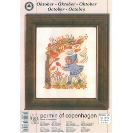 Cross Stitching Kit - Permin Of Copenhagen - October