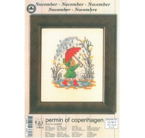 Kit Punto de Cruz - Permin Of Copenhagen - Noviembre