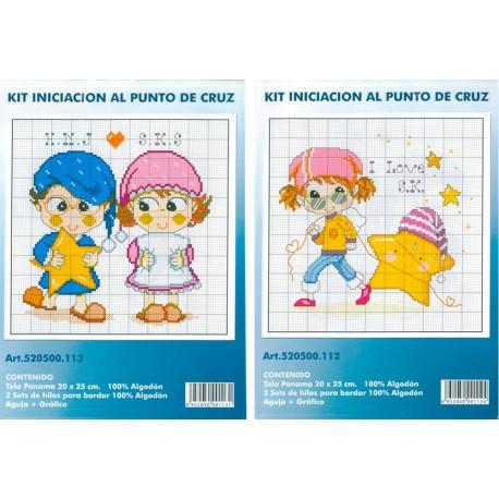 Kit Iniciación Punto de Cruz - Buenas noches / Me gustan las estrellas