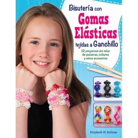 Bisutería con gomas elásticas tejidas a ganchillo
