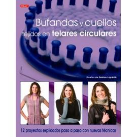 Bufandas y cuellos tejidos en telares circulares