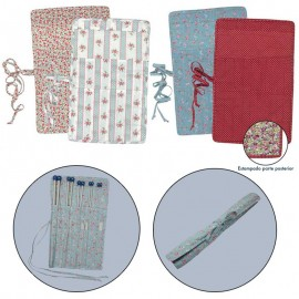 Fabric cover for knitting needles