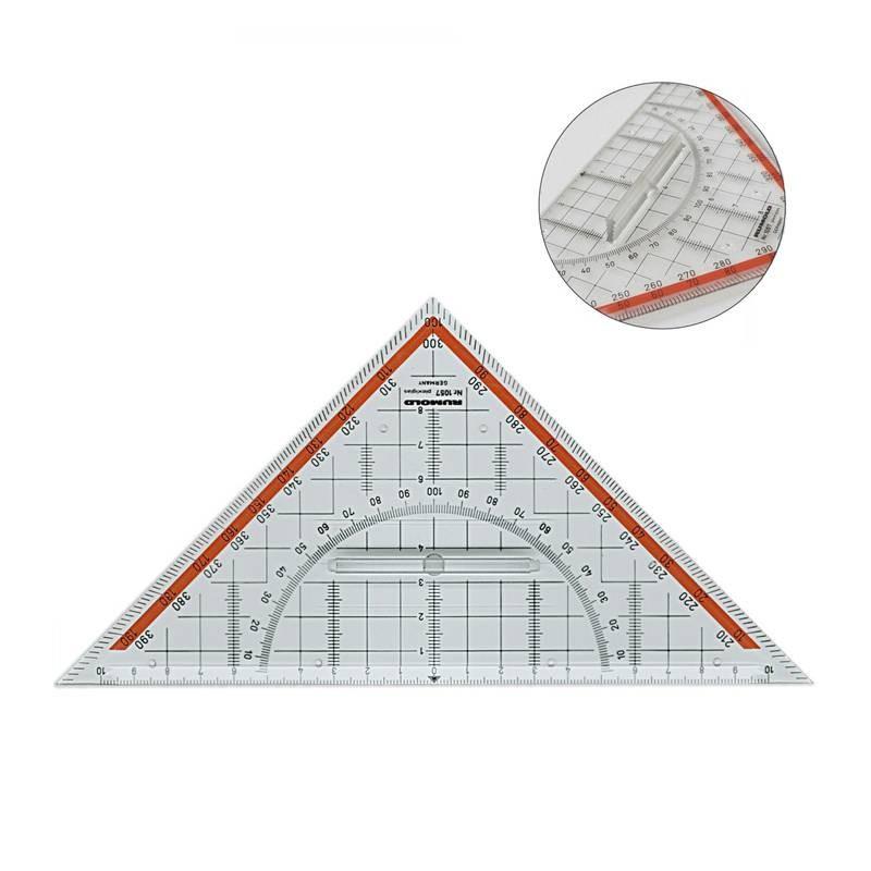 Regla Triangular con soporte