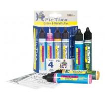 Kit Pic Tixx 4 paint markers glitter/metallic 29 ml