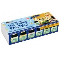 Pack 6 Pinturas Acrílicas Mate Pastel 20 ml Hobby Line