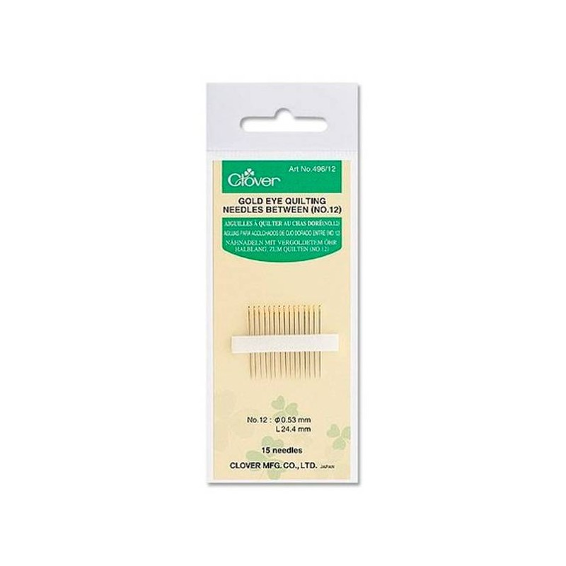 Gold Eye Quilting Needles Clover