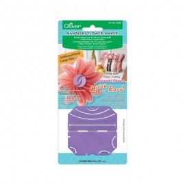 Plantilla para Flores Kanzashi Clover - Pétalo Fruncido Grande