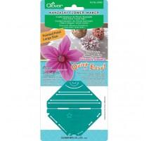 Plantilla para Flores Kanzashi Clover - Pétalo Puntiagudo Grande