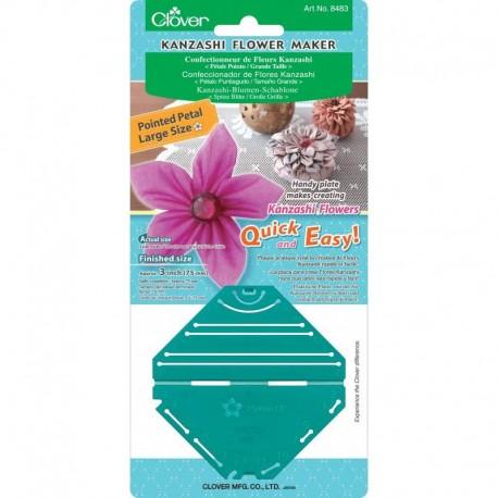 Clover Kanzashi Plantilla Flor Pétalo Puntiagudo Grande
