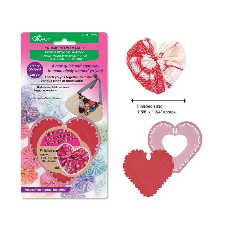 Clover Quick Yoyo Maker Heart Shaped Large
