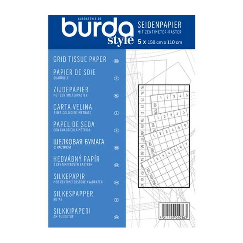 Papel de Seda con cuadricula 150x110 cm Burda Style