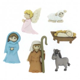 Buttons Nativity