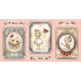 Mirabelle Panel - Girl Picture Pink