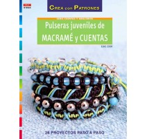 Pulseras juveniles de macramé y cuentas
