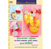 Decorar cajas con fieltro, pompones, cartón, cuentas... para niños