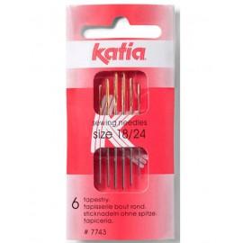Agujas de Coser Lana del Nº18 al 24 Katia