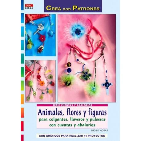 Animales, flores y figuras para colgantes, llaveros y pulseras con cuentas y abalorios