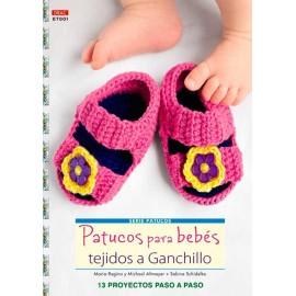 Patucos para bebés tejidos a ganchillo