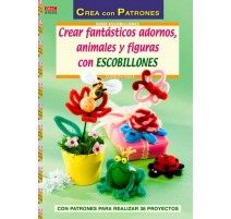 Crear fantásticos adornos, animales y figuras con escobillones