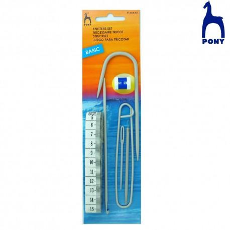 Kit de accesorios para punto y ganchillo Pony