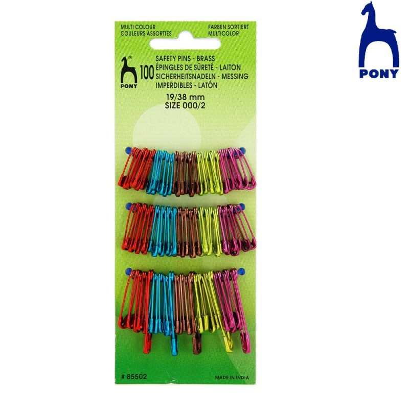 Pony Multi Color Safety Pins