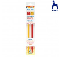 Childrens Knitting Needles 18 cm Pony