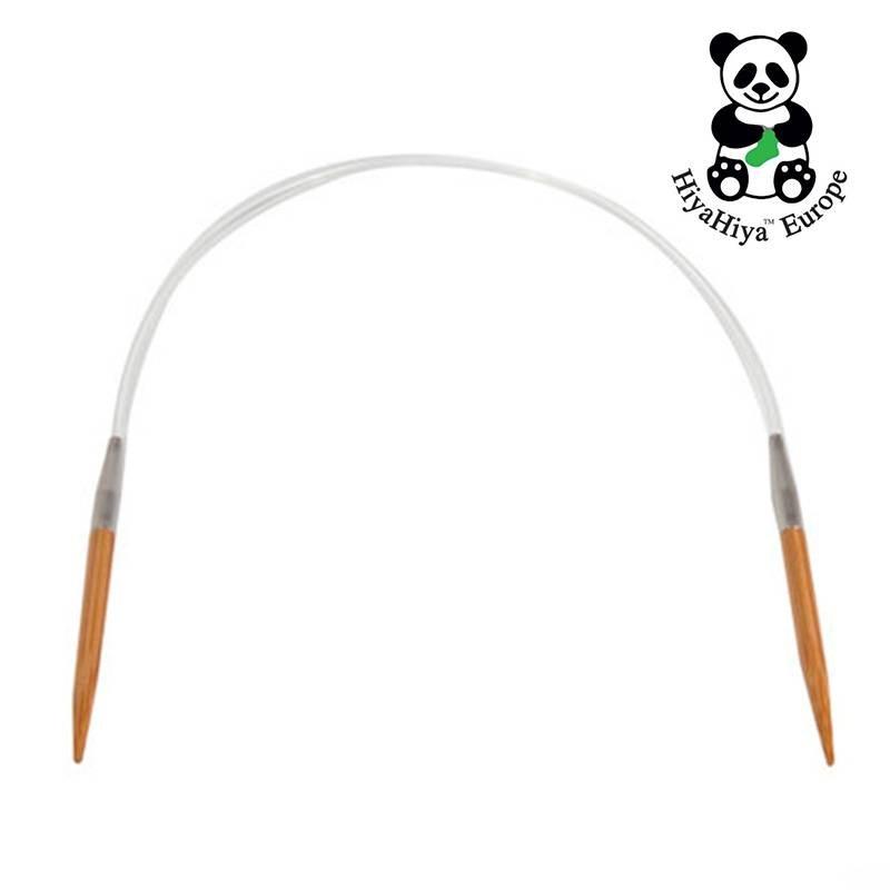Agujas Circulares Fijas de Bambú 80 cm HiyaHiya - Las Tijeras Mágicas