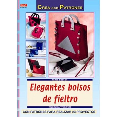 Elegantes bolsos de fieltro