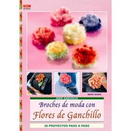 Broches de moda con flores...