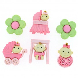 Baby Fun Button for Girl