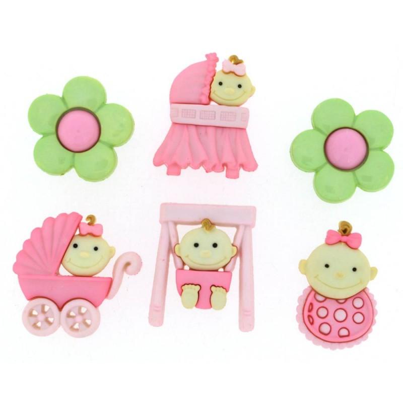 Baby Fun Button for Girl