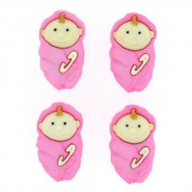 Baby Girls Button