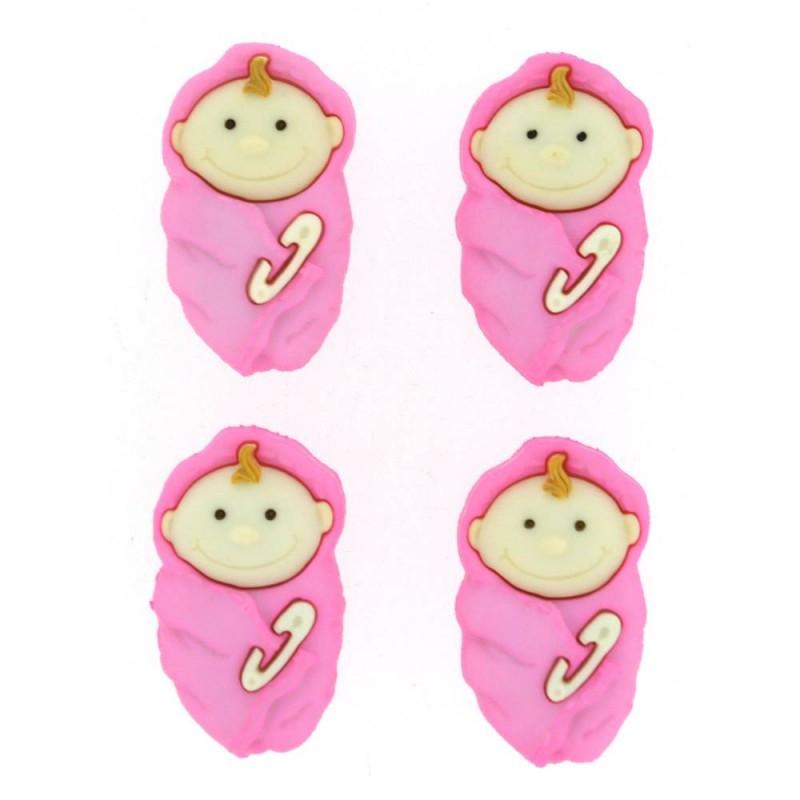 Botón Bebé Dormilón para Chica