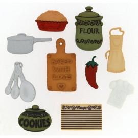 Botones En la cocina