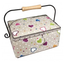 Sewing Box - Dotted Hearts